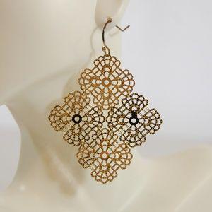 Jewelry - Lightweight Gold Chandelier Earrings